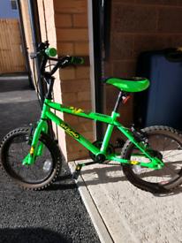Free Spirit Gizmo 16inch neon green bike