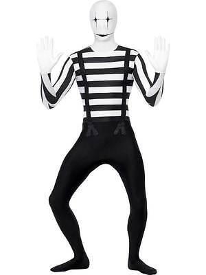 Mens Girls Stag Hen Halloween Parties Fancy Dress Costume Second Skin Mime