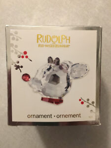"""""""RUDOLPH THE RED-NOSED REINDEER"""" Crystal Ornament (2010)(Mint)"""