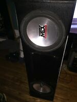 2 mtx thunder 4500 subwoofers 12 inch