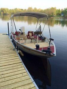 17.5ft princecraft wide beam/deep hull fishing boat