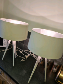 Large Tripod Lamps (x2)