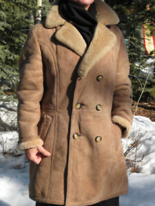 Men's Sheepskin Winter Leather Coat
