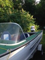 16ft aluminum runabout with trailer