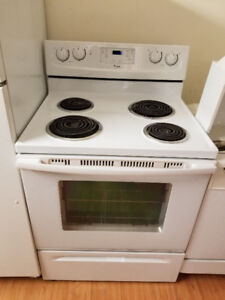 """Whirlpool 30"""" white coil top electric stove oven range"""