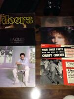 Vinyl record collection 70-80s rock