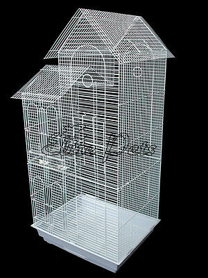 Bird Cage Finch Budgies Canary House Shaped Small 808A White