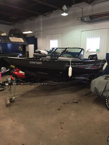 2014 Smoker Craft Pro Angler XL boat, motor and trailer