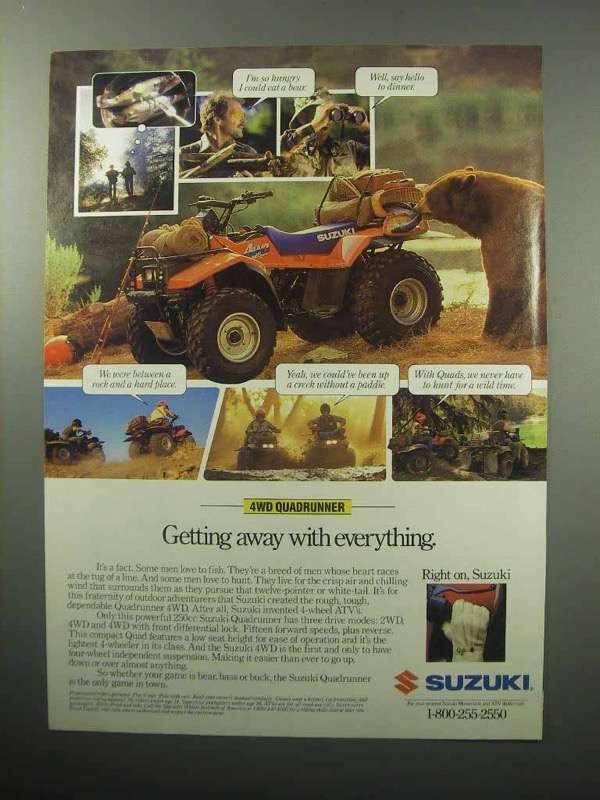 1987 Suzuki Quadrunner 4WD ATV - Getting Away
