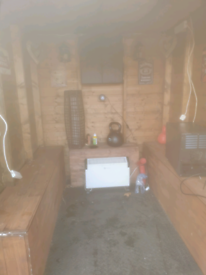 6x6 shed used as man cave