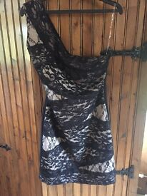 Black lace Lipsy dress (size 12)