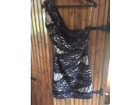 Black lace Lipsy dress (size 12)
