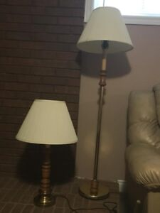 Matching table and floor lamp