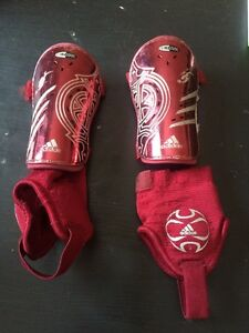 Shin pads with detachable ankle protectors
