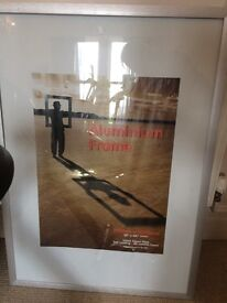 """Large Silver 28""""x40"""" Safety Glass Poster Frame"""