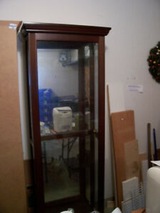 2 Identical Curio Display Cabinets