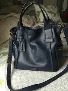 Navy Fossil handbag purse