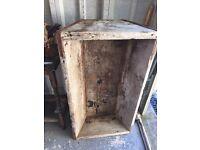 Animal feed trough antique