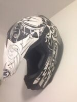 Full face motocross helmet & goggles (men's L)