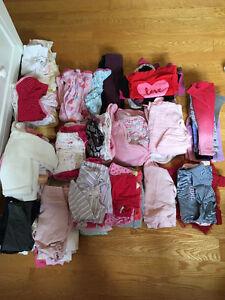 Gros lot de linge bebe filles