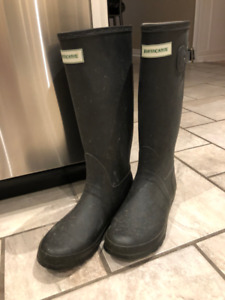 Rubber Rain boots, American Eagle Wedges,  Black Booties