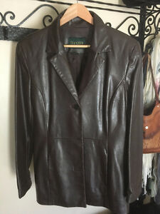 Beautiful, dark brown, gently worn, Genuine Leather Jacket