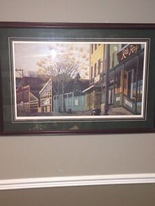 "Virginia Houston ""Sunday Afternoon On George St"" Print, RARE!"