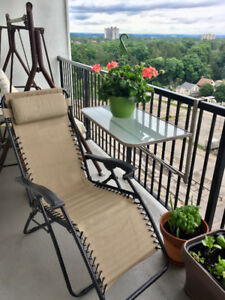 Hanging Balcony Railing Table