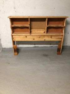 queen or double solid pine headboard,