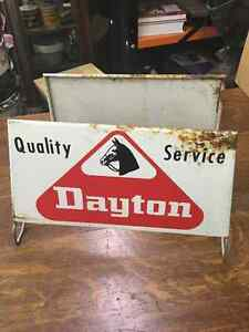 Dayton Tire Advertising Tire Stand Tin Signs Regina Regina Area image 3