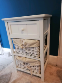 2 x White bedside cabinets