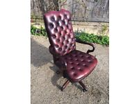 Wade leather chesterfield office chair