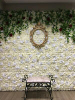 MULTIPLE FLOWER WALL BACKDROPS
