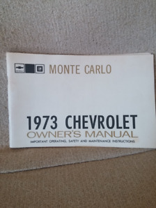 1973 Monte Carlo owners manual