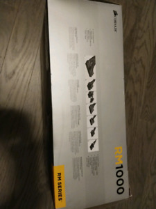Perfect Condition Corsair RM1000 Gold rated PSU with receipt