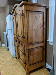 Rustic wood Armoire