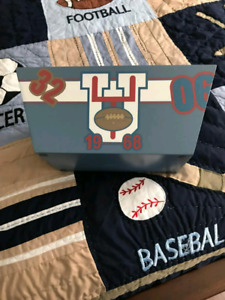Boys sports theme bedroom decor