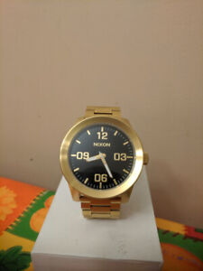 Nixon Corporal SS (stainless steel) Gold/black 48mm Watch