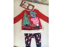 Brand new with tags peppa pig pyjamas 12 18 months 1 yrs