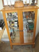Light Brown Curio Cabinet