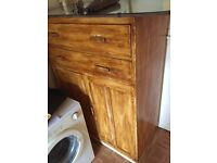 Post war Wooden utility tall boy cupboard