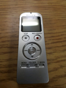 Sony voice recorder and mp3 players