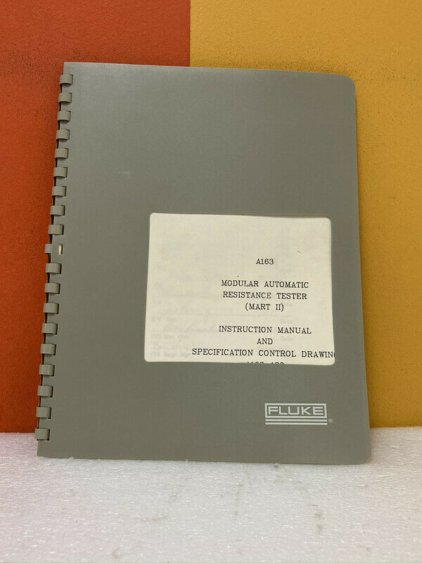 HP A163-130 Modular Automatic Resistance Tester Instruction Manual