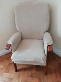 Armchair - beige/cream
