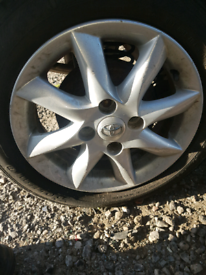 Alloy wheel rim with tyre toyota aygo citreon c1 Peugeot 107 14 inch