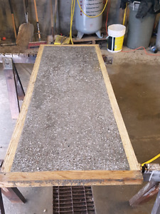 Concrete table top.