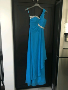 Blue Dress (bridesmaid, party, prom, evening)
