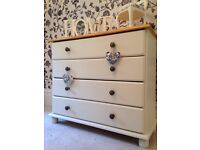 Shabby chic chest of drawers painted Laura Ashley