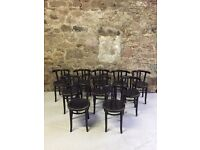 10 bentwood antique chairs