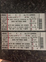 2 tickets to Dave Matthews Band September 1, 2015 Vancouver
